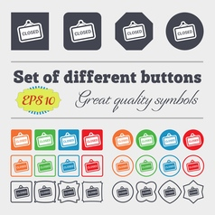 Close icon sign big set of colorful diverse vector