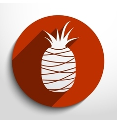 Pineapple web flat icon vector