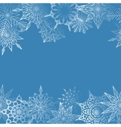 Winter decoration from snowflakes vector