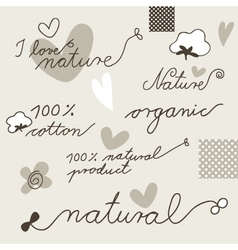 Cotton design elements vector