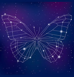 Abstract geometric polygonal cosmic butterfly vector