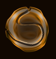 Abstract golden colorful mesh sphere vector