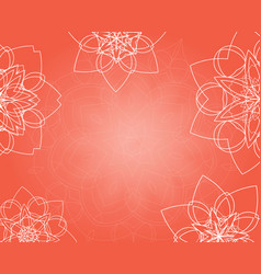 abstract pink background with tribal floral vector image vector image