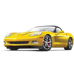 American luxury sports car vector image