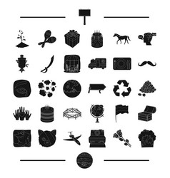 Animal travel ecology and other web icon in vector