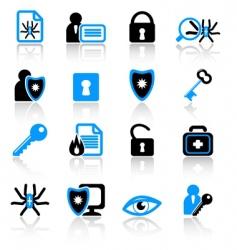 antivirus icons vector image vector image