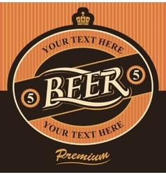 Beer label premium vector