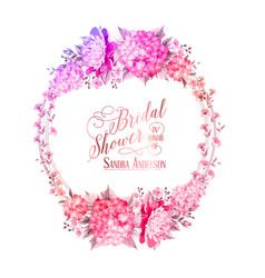 blosoom flower wreath vector image