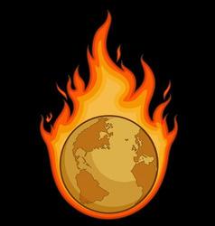 Burning Desolated Earth vector image