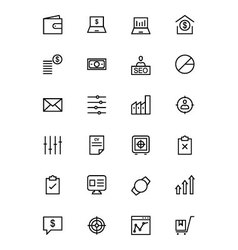 Business and Finance Line Icons 3 vector image vector image