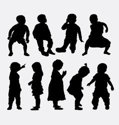 Children activity silhouettes vector