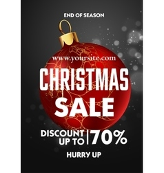Christmas sale design poster template vector