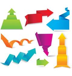 colorful arrows vector image vector image