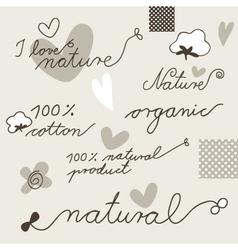 Cotton design elements vector image vector image