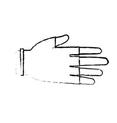 Drawing hand human protection glove medical vector