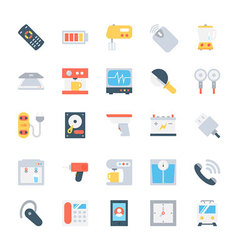 Electronics colored icons 5 vector