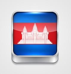 Flag of cambodia vector