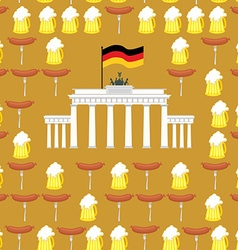 German seamless ornament symbols of germany beer vector