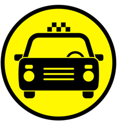 icon with the image of a taxi car vector image