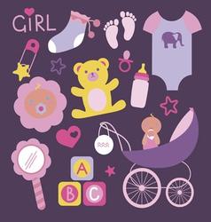 Its a girl mega set vector image