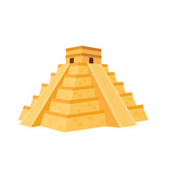Mexcian pyramid vector