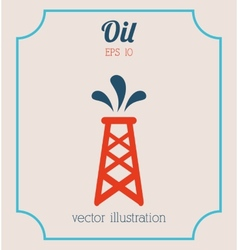 oil icon vector image