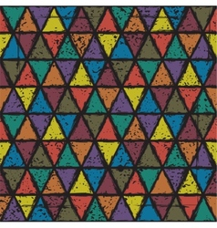 Seamless triangle grunge pattern background vector image