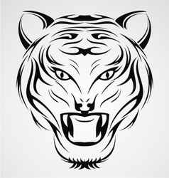 Tiger Head Tribal vector image