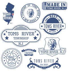 Toms river town new jersey stamps vector