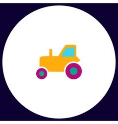Tractor computer symbol vector