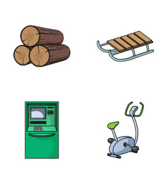 Wood industry finance and other web icon in vector