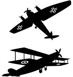 World war one planes vector