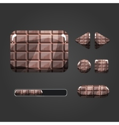 Set of chocolate different buttons vector