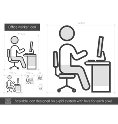Office worker line icon vector