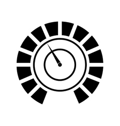 Pressure gauge device icon vector