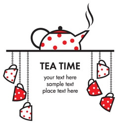 Tea time icon vector