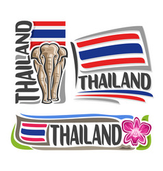 Logo for thailand vector