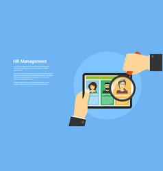 Human resource management concept vector