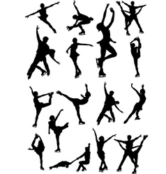 6213 figure skating vector image