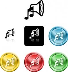 speaker sound icons vector image