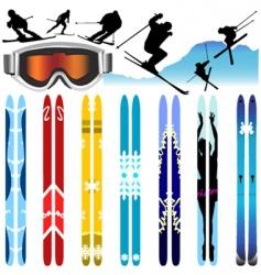 ski vector image