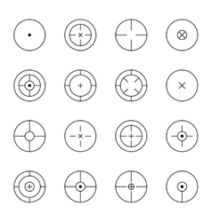 Set of different types crosshair vector