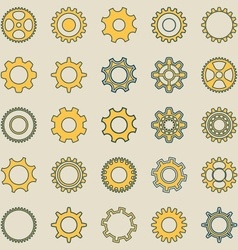 Gear wheel retro collection vector