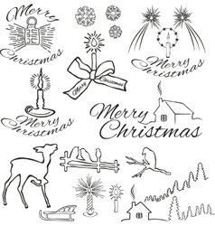 Symbols of christmas vector