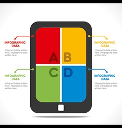 Creative tablet device info-graphics concept vector