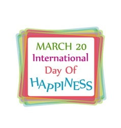 International day of happiness- commemorative day vector