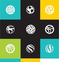 Abstract circle logo icon set vector