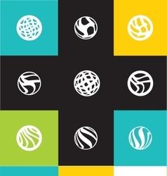 Abstract circle logo icon set vector image