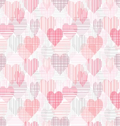 Abstract seamless pattern with color hearts vector