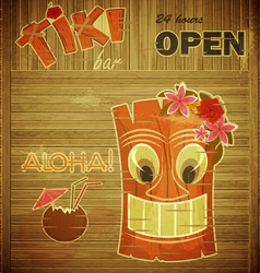 Vintage design hawaii menu vector image